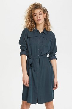 denim hunter jurk met overhemdkraag »dhfiona« blauw