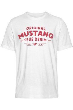 mustang t-shirt wit