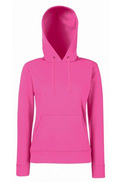 fruit of the loom capuchontrui »lady fit pullover mit kapuze« roze