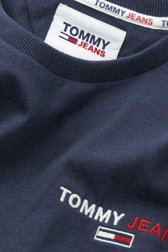 tommy jeans shirt met lange mouwen »tjm longsleeve corp tee« blauw