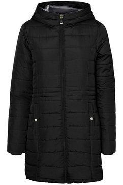 vero moda curve gewatteerde jas zwart