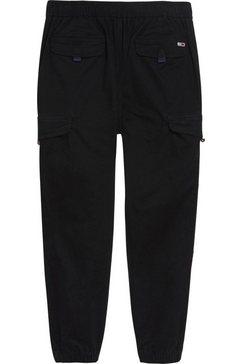 tommy jeans cargobroek »tjm cargo jogger« zwart