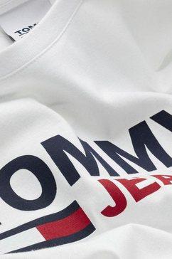 tommy jeans shirt met lange mouwen »tjm longsleeve corp logo tee« wit