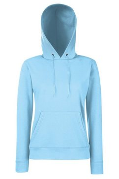 fruit of the loom capuchontrui »lady fit pullover mit kapuze« blauw