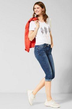 cecil capri jeans »charlize« blauw