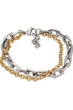 firetti armband »glanzvolles design, bicolor, massiv« goud