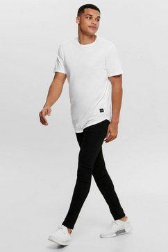 only  sons t-shirt »matt life longy ss tee« weiß