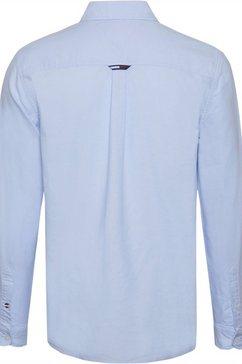 tommy jeans overhemd met lange mouwen »tjm oxford badge shirt« blauw