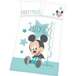 walt disney baby-overtrekset »mickey mouse« wit