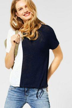 street one shirt met ronde hals blauw