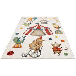 luettenhuett vloerkleed voor de kinderkamer »zirkus« beige