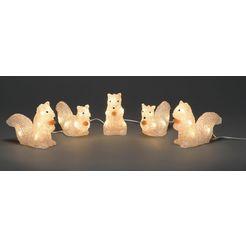 konstsmide led-lichtsnoer »eichhoernchen« wit