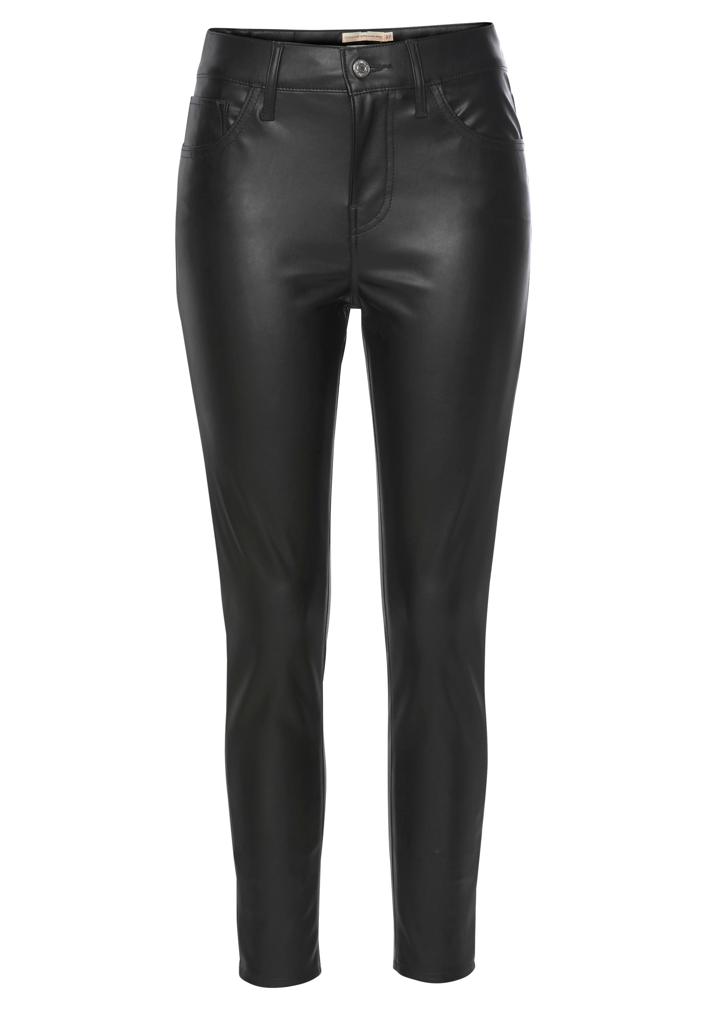 LEVI'S slim fit jeans »720 Faux Leather Ankle« bij OTTO online kopen