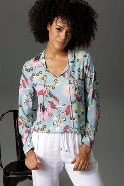 aniston casual blouse zonder sluiting blauw