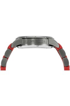 seven-24 automatisch horloge »seven-24 saturn race rubber, sv1259jsq-05« rood