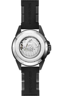 seven-24 automatisch horloge »seven-24 star ray all black, sv1259bsb-06st« zwart