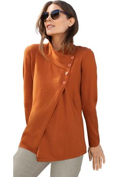 classic inspirationen trui met staande kraag oranje