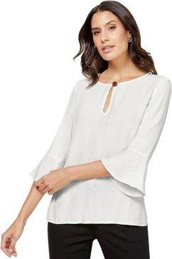 lady satijnen blouse wit