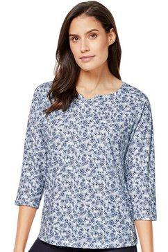 classic inspirationen shirt met 3-4-mouwen blauw