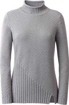 casual looks trui met staande kraag grijs