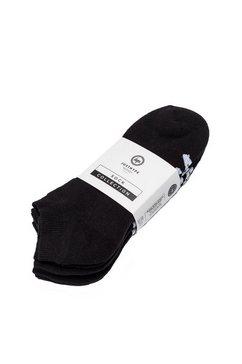 hype sneakersokken »unisex mit logo-schriftzug, 3er-pack« zwart