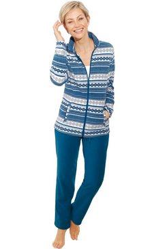 feel good huispak van zachte fleece blauw