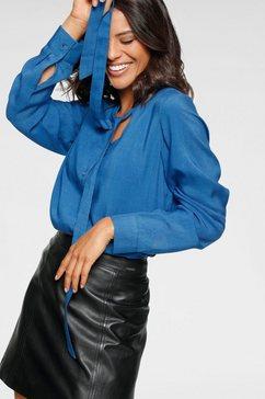 laura scott blouse met kraagstrik blauw