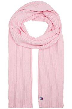 tommy jeans gebreide sjaal roze