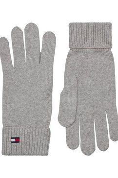 tommy hilfiger gebreide handschoenen grijs