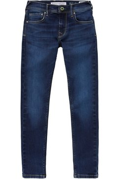 pepe jeans stretch jeans »finly« blauw