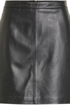 object leren rok zwart