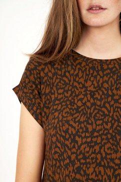 soyaconcept shirt met ronde hals »sc-krista2« bruin