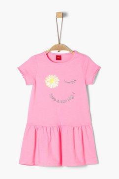 s.oliver junior jersey jurk met omkeerbare pailletten voor meisjes roze