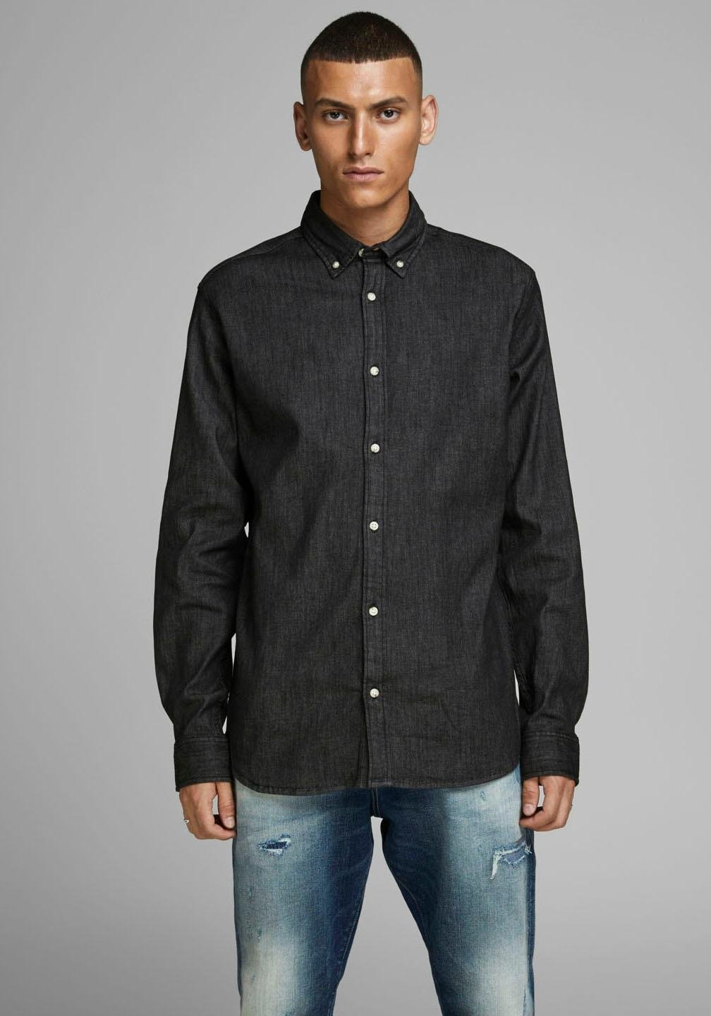 Jack & Jones jeansoverhemd »LEON STRETCH DENIM SHIRT« - gratis ruilen op otto.nl
