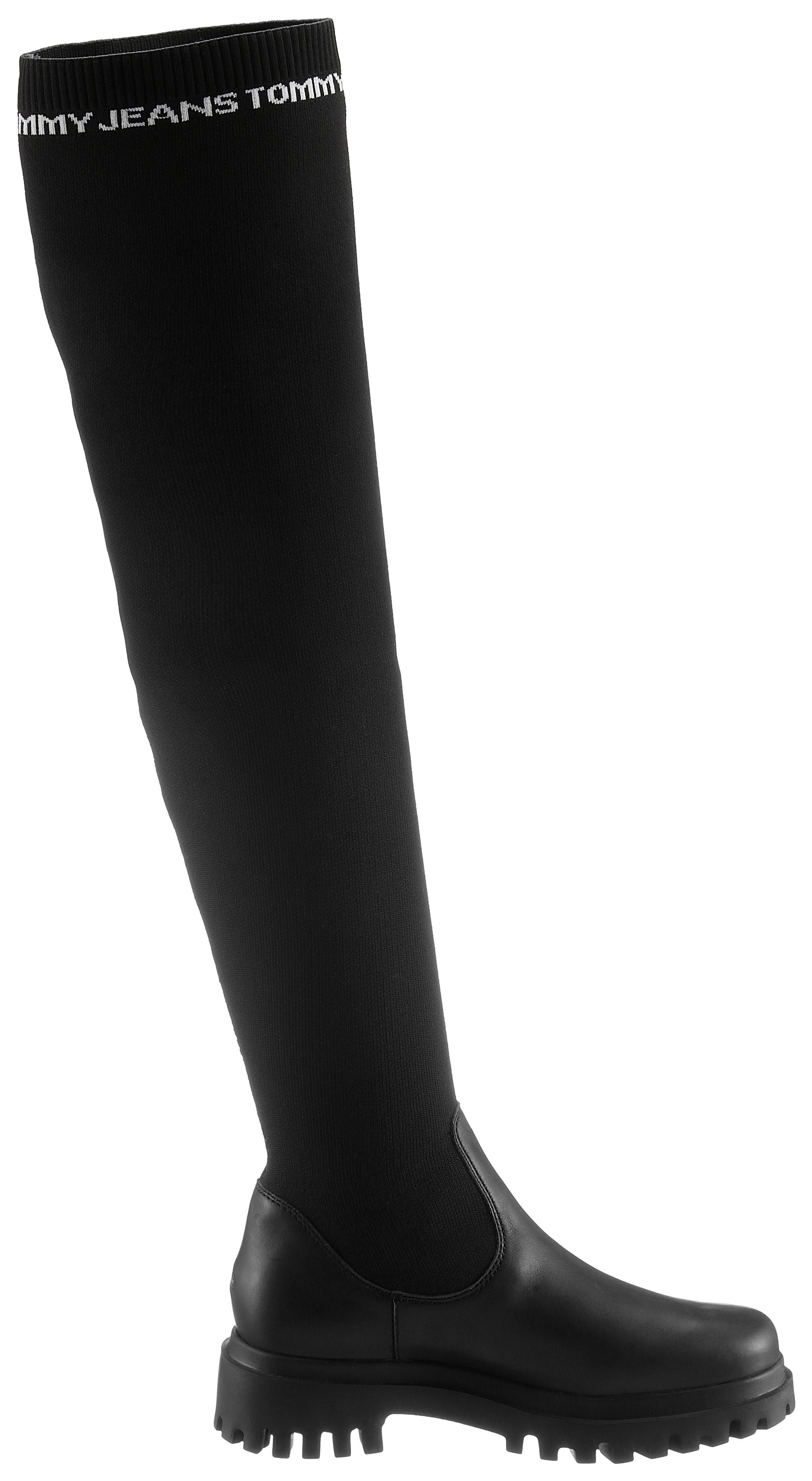 TOMMY JEANS overknee-laarzen »TOMMY JEANS OVER THE KNEE BOOT« in de webshop van OTTO kopen