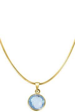 lady hanger met 1 ronde blauw topaas goud