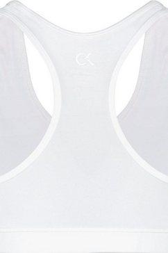 calvin klein performance sportbustier »medium support sports bra« wit