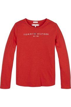 tommy hilfiger shirt met lange mouwen »essential tee« rood