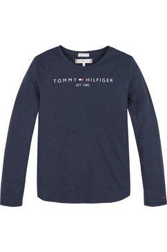 tommy hilfiger shirt met lange mouwen »essential tee« blauw