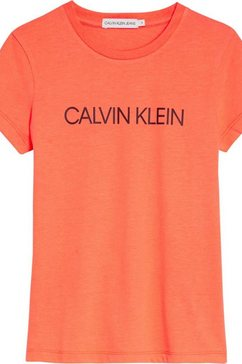 calvin klein t-shirt »institutional slim« oranje