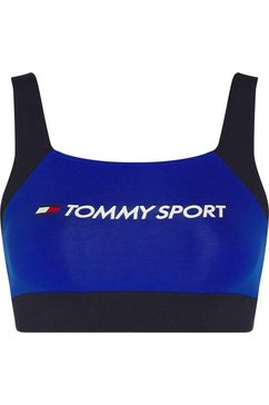 tommy sport sportbustier »low support co-el bra« blauw