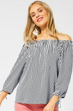 street one blouse met carmenhals wit