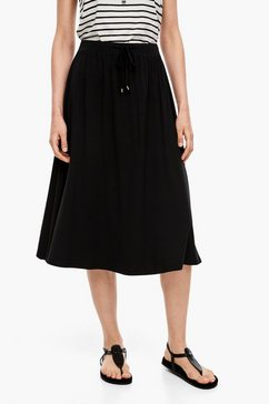 s.oliver chambray rok met opengewerkt borduursel zwart