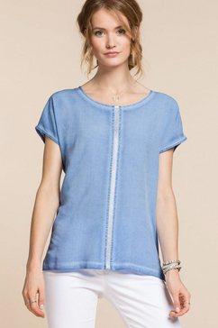 bianca shirt met ronde hals »julie« blauw