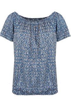 bianca shirt met carmenhals »siana« blauw