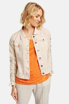 taifun jasje jeans + stof »sportive leinen-jacke«
