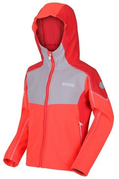 regatta softshell-jack »kinder acidity iv reflective kapuzen softshell jacke« rood