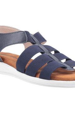 hush puppies sandalen »damen hailey gladiator leder« blauw