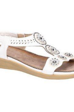 fleet  foster sandalen »damen caper elastik t-bar« wit