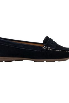 hush puppies loafers »damen margot wildleder schuh« blauw